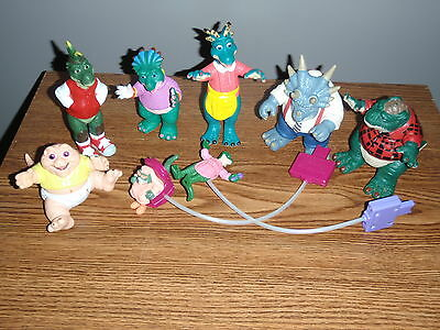 Vintage Disney Dinosaurs Tv Series Action Figures Lot of 8 Sinclair Family