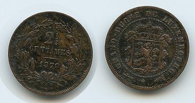 G7711 - Luxemburg 2½ Centimes 1870 KM#21 Guillaume III.1849-1890 Luxembourg