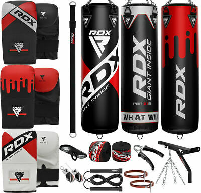RDX 5FT Filled Punch Bag KickBoxing Punching Set Boxing Glove Mitts Hand Wraps