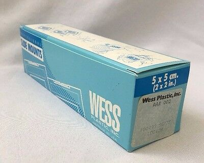NEW Box of 50 Wess Plastic 2x2 in (5x5 cm) 35mm Slide Mounts Film Holders NOS