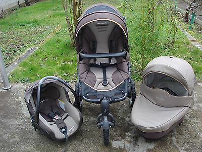 Trio High Trek Bébé Confort nacelle Windoo Plus cosy Creatis 2015 Excellent état