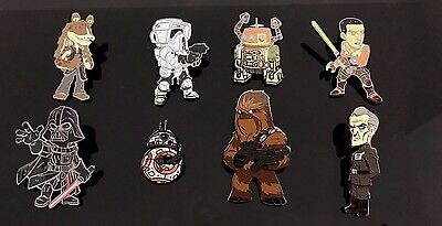 Star Wars Celebration Orlando 2017 Exclusive Mystery Blind 8 Pins Full Set New