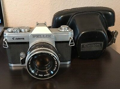 CANON PELLIX NO. 111108 35MM CAMERA WITH 50MM F1.14 FL LENS + CASE 1960s VINTAGE