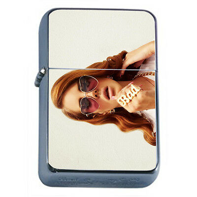 Bad Girl Pin Up D2 Windproof Dual Flame Torch Lighter Refillable