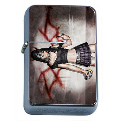Bad Girl Pin Up D3 Windproof Dual Flame Torch Lighter Refillable
