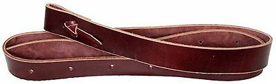 NEW Showman 6' Premium Leather Latigo SADDLE CINCH Tie Strap with Punched Holes!