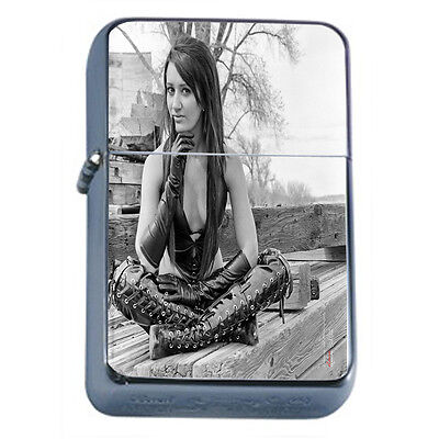 Bad Girl Pin Up D21 Windproof Dual Flame Torch Lighter Refillable