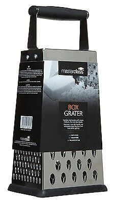 Kitchen Craft 24.5 cm Master Class Four Sided Box Grater * Brand New * Fast Del