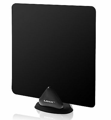 TV Aerial, Liger Ultra-Thin Indoor Antenna 35 Mile Range - Receive HD Television