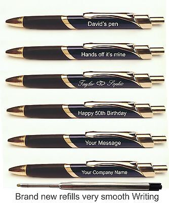 Promotional Pens - Personalised Laser Engraved Metal Ballpoint Pen, QTY 50