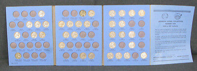 Jefferson Nickel Collection 1938 To 1961 Number One, 34 Coins Included