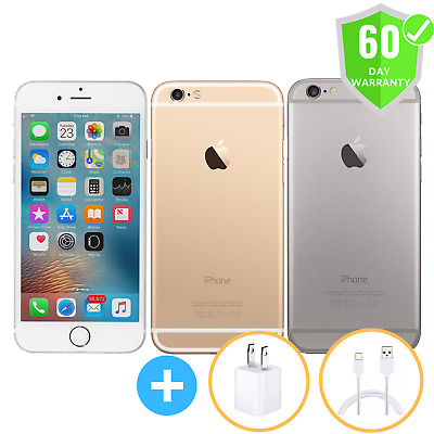 "Apple iPhone 6 16GB 64GB 128GB GSM""Factory Unlocked"" Smartphone Gold Gray Silver"