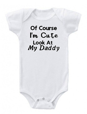 I'm Cute New Parents Baby Shower Gift Funny Saying Baby Onesie Bodysuit