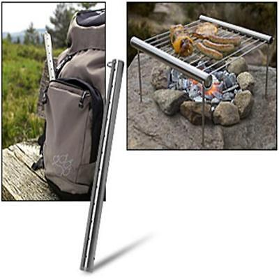 Portable Outdoor Camping Beach Folding BBQ Barbecue Grill Support Stand Stove Y
