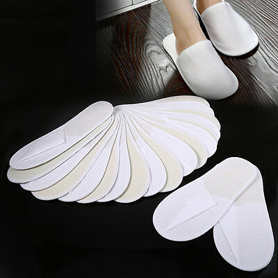 10 Pairs/Lot Spa Hotel Guest Slippers Travel Shoes Disposable Non-woven Fabric