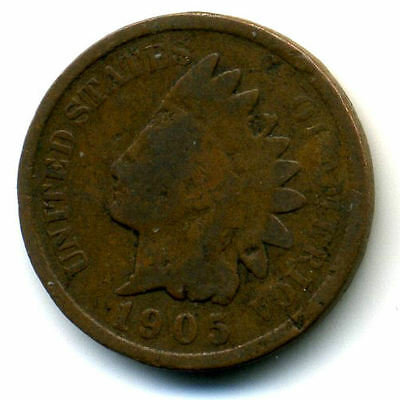1905 P INDIAN HEAD PENNY 1 Cent KEY DATE U.S CIRCULATED ONE RARE NICE COIN#151