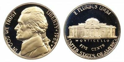 1982 S GEM BU PROOF JEFFERSON NICKEL 5 Cent BRILLIANT UNCIRCULATED US COIN# PF
