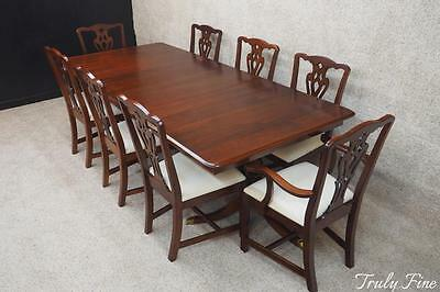 PA HOUSE 8 Chairs Chippendale Dining Room Set Duncan Phyfe Breakfront Curio