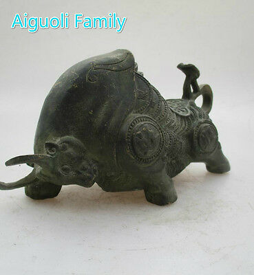 Bronze Carved Wealth Cattle/ Feng Shui Cow/Bull