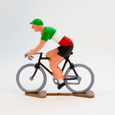 Italy Cycling Figurine - Hand painted in France