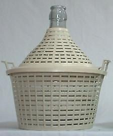 NEW Demijohn 5Lt Narrow Neck With PVC Basket