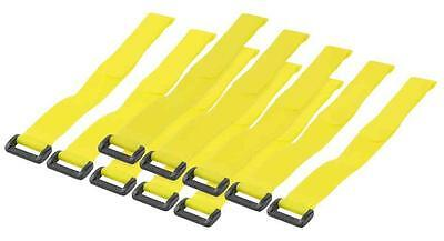 KAB0015 Lot de 10 attaches cable velcro 300 x 20 mm Jaune