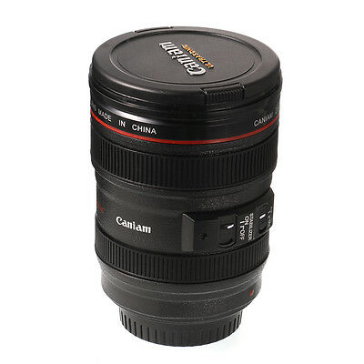 Caniam 1:1 Lens Thermos Camera Cup EF 24-105mm f/4.0L Travel Coffee Tea Mug Cup