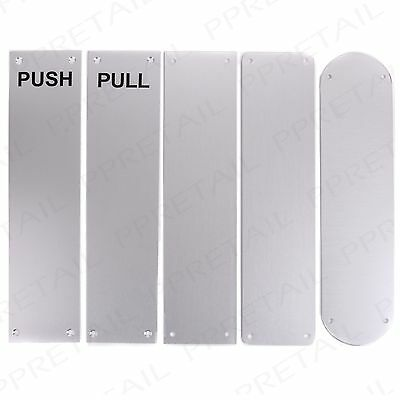 Satin Aluminium METAL FINGER DOOR PLATE Panel Cover Sign Guard In/Out Open/Close