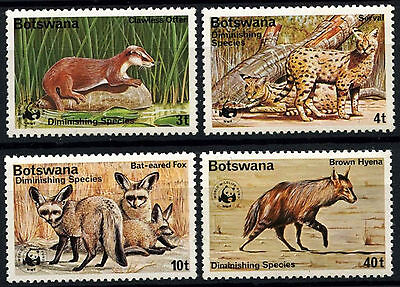 Botswana 1977 Dininishing Species, wwf MNH x 4 #D48921