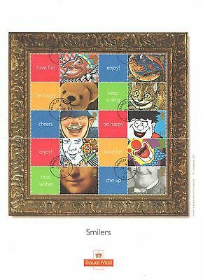 LS5 2001 Smiles Royal Mail Generic Smilers Sheet CTO (Not First Day of Issue)