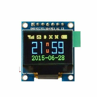 "0.95"" Inch SPI OLED Display Module Full Color 65K Color SSD1331 7 Pin For Arduin"