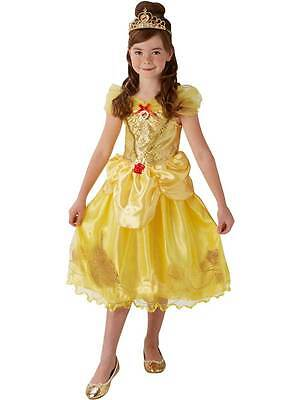 Girls Storyteller Golden Belle Fancy Dress Princess Book Day Kids Costume