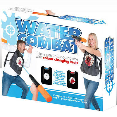 Water Pistol Gun Fight Combat Toy Game Adults Childrens Kids Summer Outdoor Gift