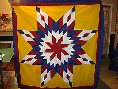 DREAMER'S STAR-Lone Star Quilt Top, Sewing, Quilting, Block