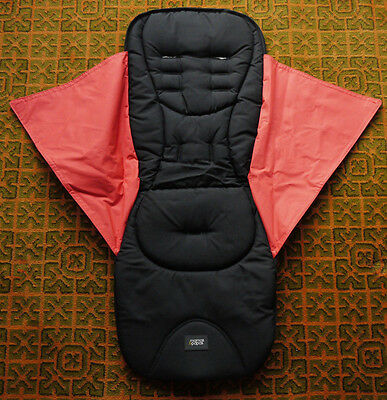 Mamas Papas ARMADILLO CORAL POP & BLACK REPLACEMENT PUSHCHAIR SEAT COVER £44 NEW