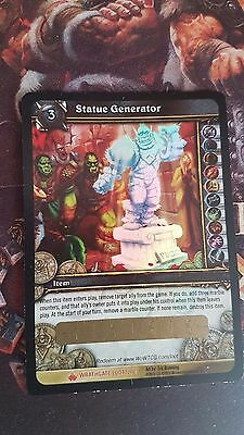 WOW STATUE GENERATOR Loot Card World of Warcraft WOW Instant Statue Pedestal