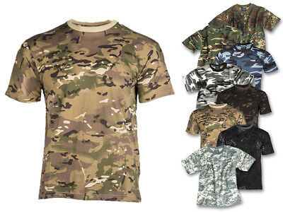 Mil-Tec T-Shirt Kids Kindershirt Tarnshirt Camouflage Kinder Army Shirt 122-176