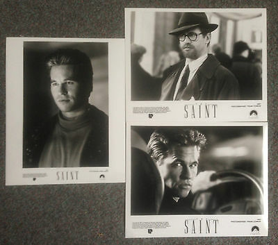 LOT OF 3 ORIGINAL PRESS PHOTOS THE SAINT Val Kilmer