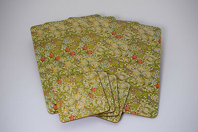 NEW William Morris Golden Lily Placemats Coasters Serving Tray Home Dining Sets
