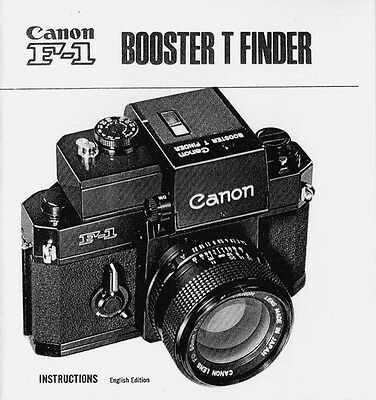Canon Booster T Finder Instruction Manual