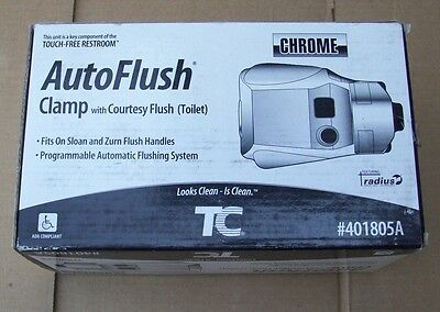 Rubbermaid TC 401805A Toilet Auto Flush Polished Chrome Clamp, FG401805A