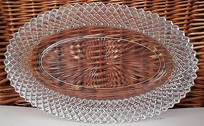 "Anchor Hocking Miss America Clear Depression Glass Oval Dish 10.5"" L X 7"" W"