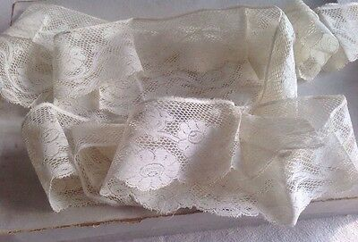 Vintage French Lace Cream Needlepoint Antique Lace / 3m Ballet Dolls Bears NOS