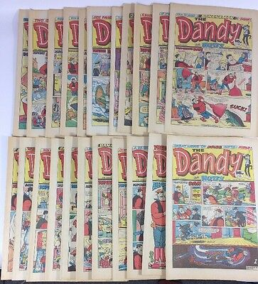 Lot #40 Vintage Dandy 1986 Comic Bundle Job Lot X 22