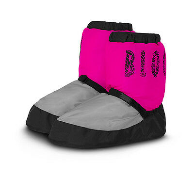 Bloch Warm Up Boots NWT Pink/Gray IM009 Adult S