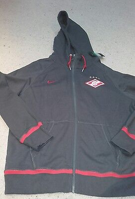 Spartak Moscow Football - Grey Full Zip Hoodie by Nike - Size XL - BNWT