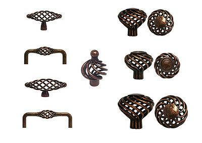 Cabinet Pull Drawer Handle Birdcage Knob Kitchen Hardware Antique Copper Machine