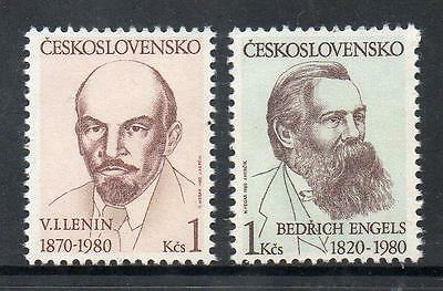 Czechslovakia MNH 1980 The 110th Birth Ann. of Lenin and the 160th Birth of Enge