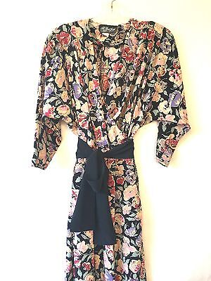 VTG 80's ALL THAT JAZZ Floral Rayon Jumpsuit Romper Grunge Club Floral sz 3 USA