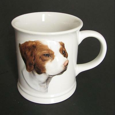Brittany Spaniel Coffee Mug Cup White Ceramic  12 Oz Dog Face is 3D